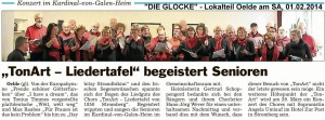 """""""TonArt - Liedertafel"""" begeister Senioren"""